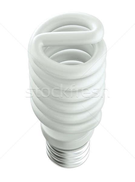 Felső oldalnézet energia hatékony villanykörte izolált Stock fotó © Arsgera