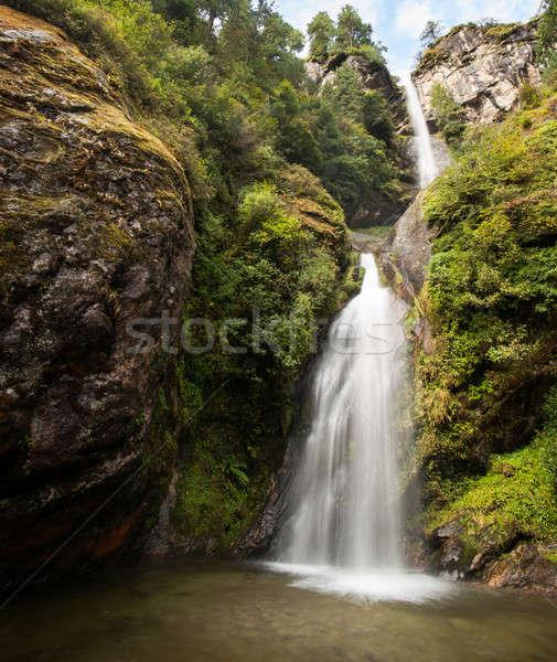 водопада Гималаи природы пейзаж путешествия дерево Сток-фото © Arsgera