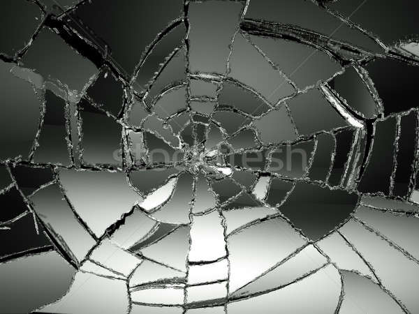 Destructed or damaged pieces of glass Stock photo © Arsgera