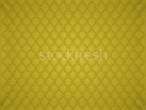 Yellow leather pattern with buttons and bumps Stock photo © Arsgera