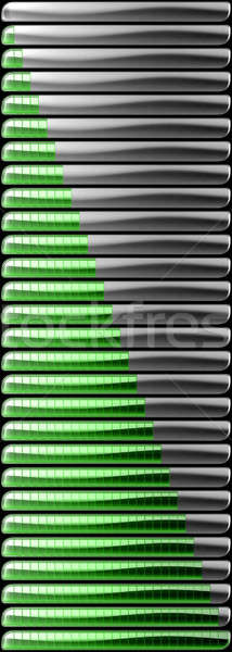 Green download and upload bars collection Stock photo © Arsgera