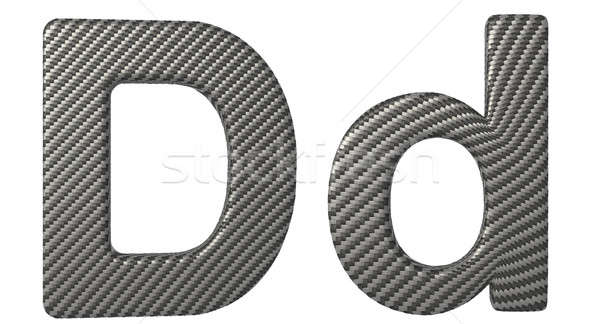 Carbon fiber font D lowercase and capital letters Stock photo © Arsgera