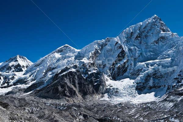 Buzul everest kamp gökyüzü manzara buz Stok fotoğraf © Arsgera