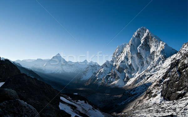 ラ 合格 夜明け ヒマラヤ山脈 日の出 高さ ストックフォト © Arsgera