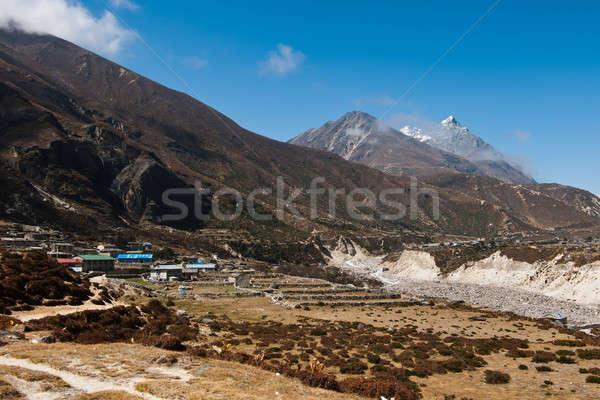 ヒマラヤ山脈 ネパール 村 雪 ストックフォト © Arsgera