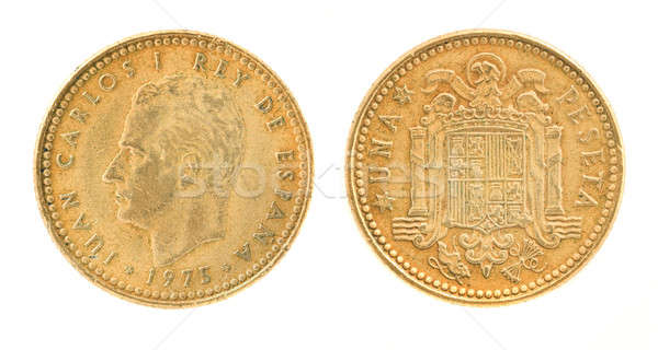 Una or 1 peseta - former Spanish money Stock photo © Arsgera