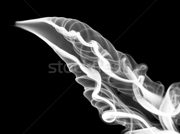 Foto stock: Blanco · resumen · humo · curvas · negro