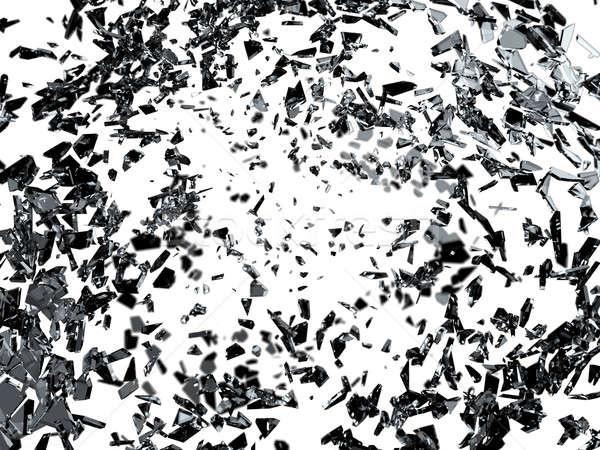 частей треснувший стекла мелкий белый Сток-фото © Arsgera
