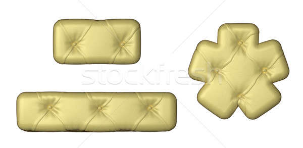 Luxury beige leather font hyphen and asterisk Stock photo © Arsgera