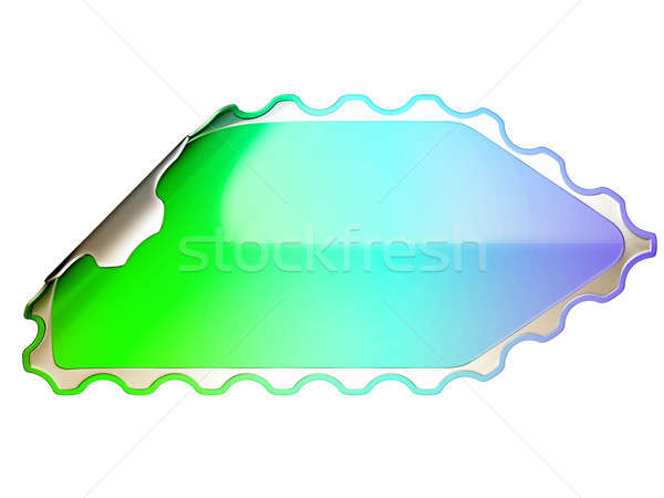 Colorful jagged sticker or label  Stock photo © Arsgera
