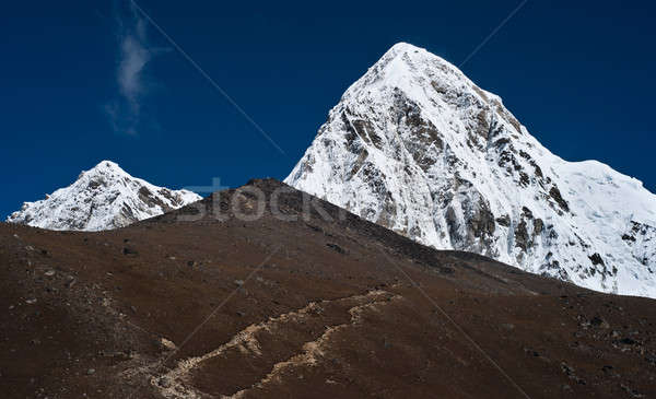 Pumo ri Kala Patthar summit in Himalayas Stock photo © Arsgera