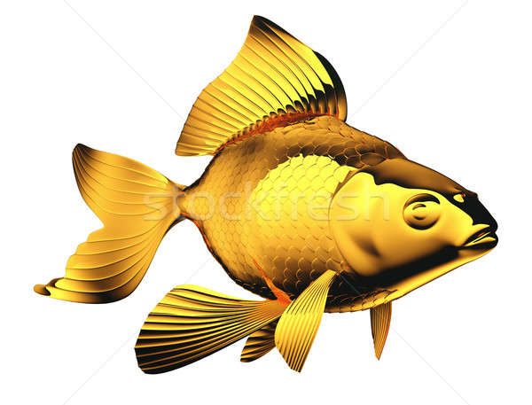 Goldfish with beautiful fins and scales isolated Stock photo © Arsgera