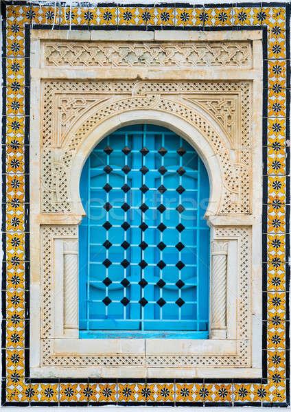 Tradicional janela padrão azulejos parede rua Foto stock © Arsgera
