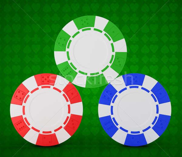Foto d'archivio: Roulette · chip · verde · bianco · casino