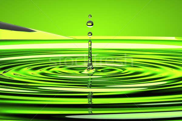 água gotículas ondas verde salpico luz Foto stock © Arsgera