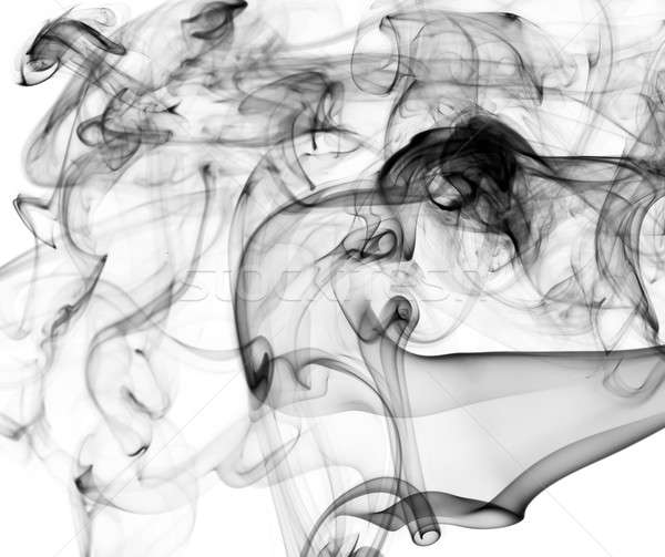 Complex Abstract smoke patterns on white Stock photo © Arsgera