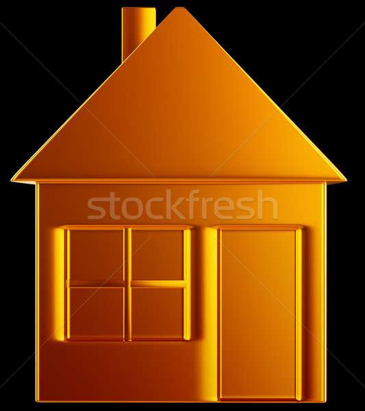 Pahalı ev altın ev biçim siyah Stok fotoğraf © Arsgera