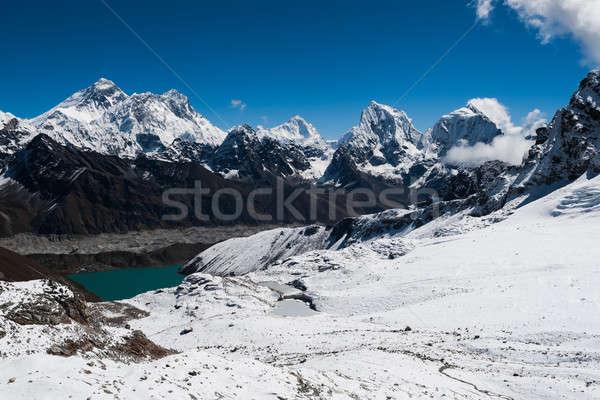 Híres passz Everest kilátás égbolt hegy Stock fotó © Arsgera