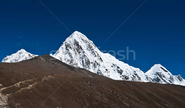 Pumori and Kala Patthar mountains in Himalayas Stock photo © Arsgera
