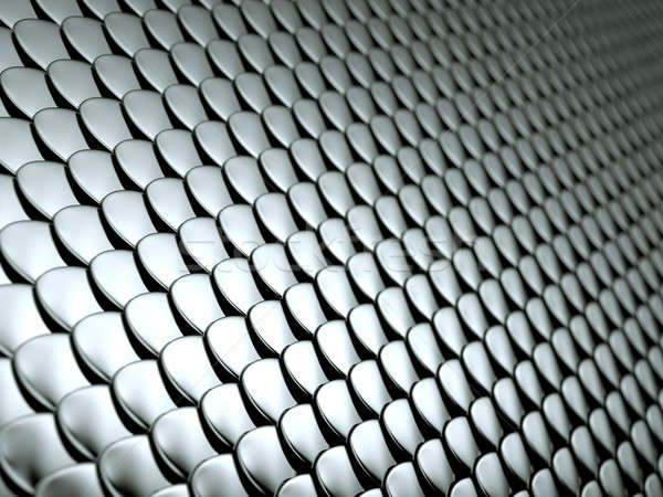 Close-up of Scales textured metallic chrome background Stock photo © Arsgera