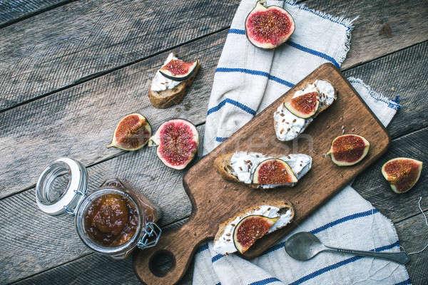 деревенский стиль Jam сыра древесины Сток-фото © Arsgera