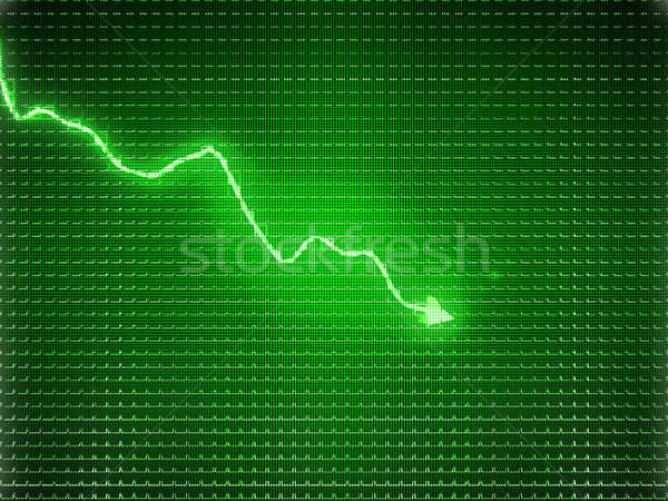 Green trend graph as symbol of business contraction Stock photo © Arsgera