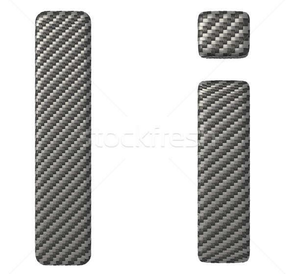Carbon fiber font I lowercase and capital letters Stock photo © Arsgera