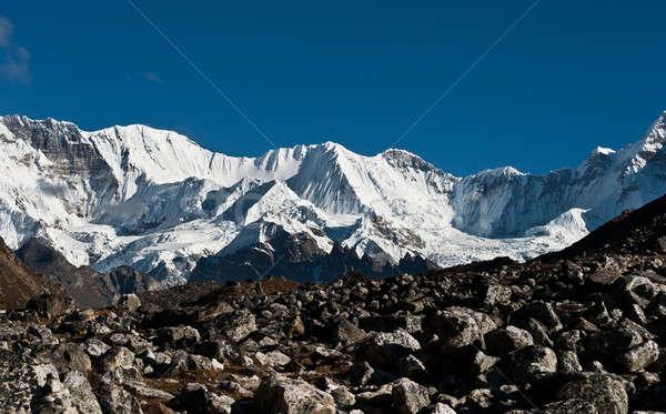 山 ピーク 空 風景 雪 山 ストックフォト © Arsgera