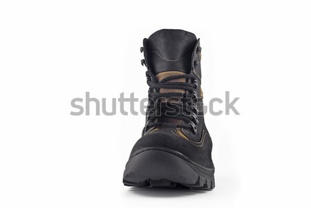 Front view of Warm leather boot  Stock photo © Arsgera