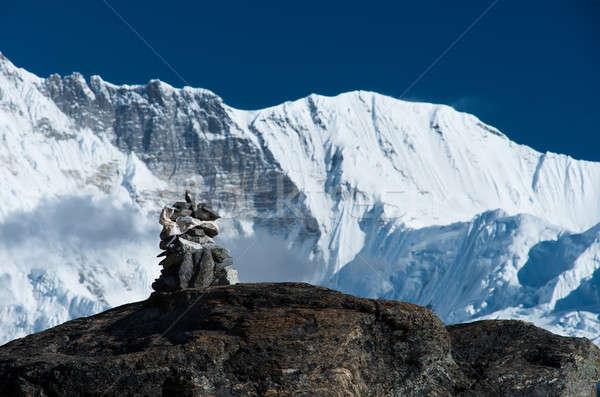 ハーモニー 石 スタック 山 ヒマラヤ山脈 ストックフォト © Arsgera