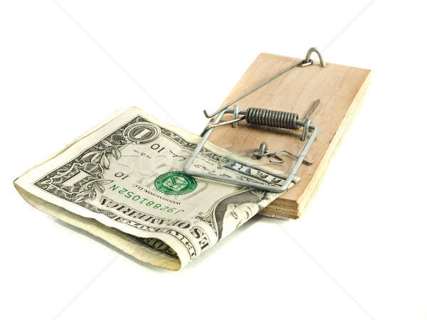 One Dollar in the mousetrap Stock photo © Arsgera