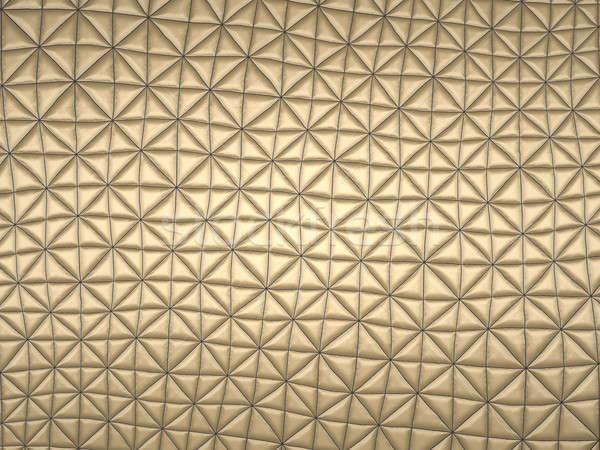 Beige fabric with triangle stitched pattern Stock photo © Arsgera