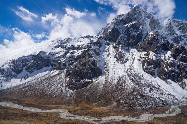 Góry dolinie szczyt Nepal krajobraz Zdjęcia stock © Arsgera