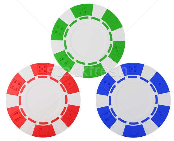 Three Casino chips over white  Stock photo © Arsgera