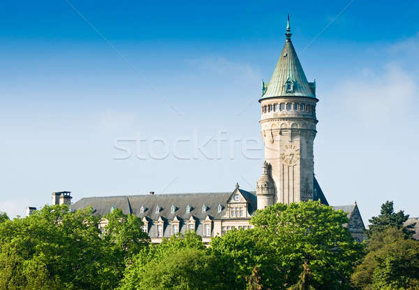 Luxembourg sight - castle tower with clock Stock photo © Arsgera