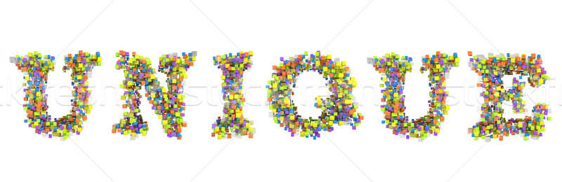 Unique word with colorful capital letters  Stock photo © Arsgera