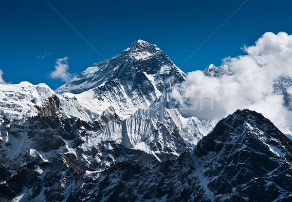 Everest Mountain Peak - the top of the world Stock photo © Arsgera