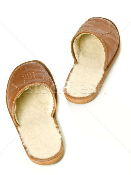 Step be step - Pair of men's house slippers  Stock photo © Arsgera