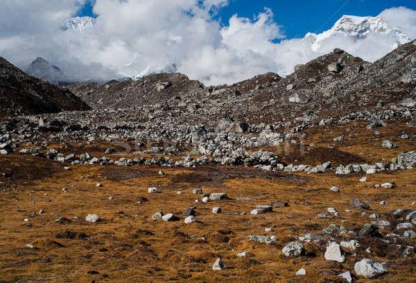 ヒマラヤ山脈 風景 堆石 山 旅行 空 ストックフォト © Arsgera