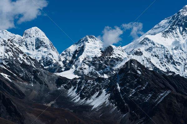 Yan everest seyahat gökyüzü dağ Stok fotoğraf © Arsgera