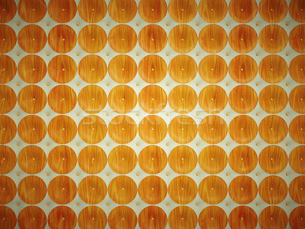 Leather and Wood: pattern with round shapes  Stock photo © Arsgera