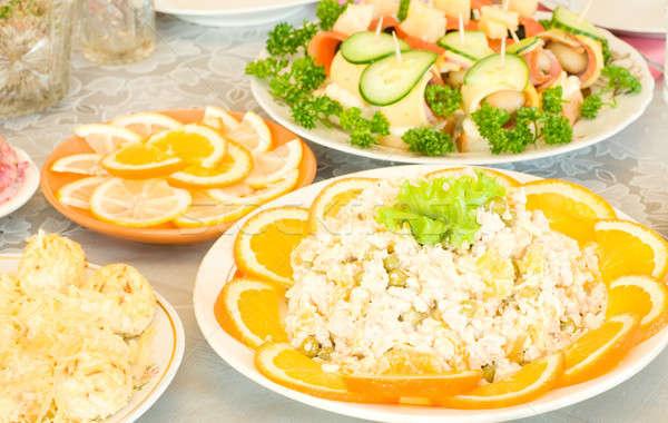 Banchetto ristorante uno piatto poco profondo Foto d'archivio © Arsgera
