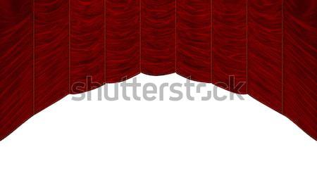 Bordeau piros függöny izolált fehér gyönyörű Stock fotó © Arsgera