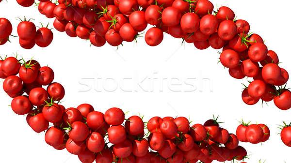 Tomatoes Cherry flows isolated on white Stock photo © Arsgera