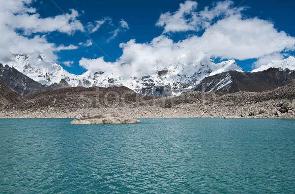 雲 湖 ヒマラヤ山脈 山 空 ストックフォト © Arsgera