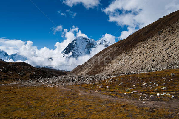 Himalayas landscape in autumn: hill and mountain peaks Stock photo © Arsgera