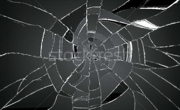 Shattered and damaged pieces of glass Stock photo © Arsgera