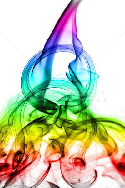 Abstract colored fume shape on white Stock photo © Arsgera