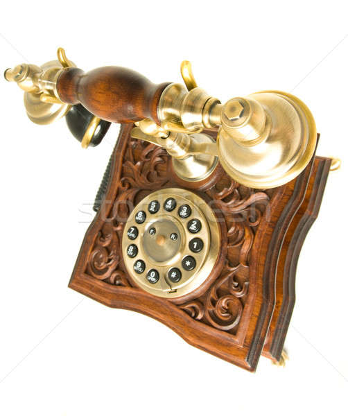 Top side view of old telephone Stock photo © Arsgera