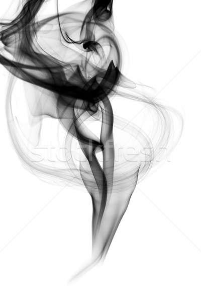 Black Abstraction. Fume shape on white Stock photo © Arsgera
